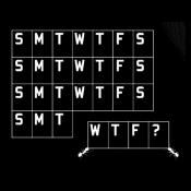 Calendar WTF? tees and ladies' tees